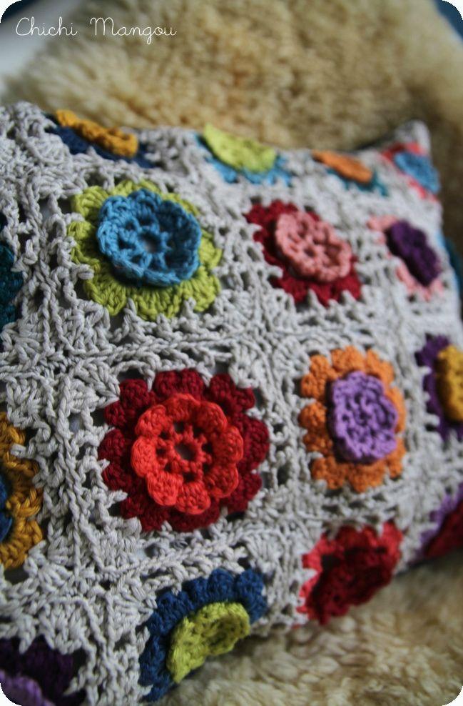 coussin, crochet
