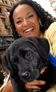 Nuala Haffner - Assistance Dogs Australia Ambassador - media personality and guest reporter on Sunrise