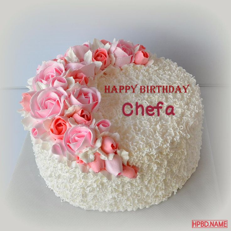 happy birthday pink flowers cake with your name  birthday
