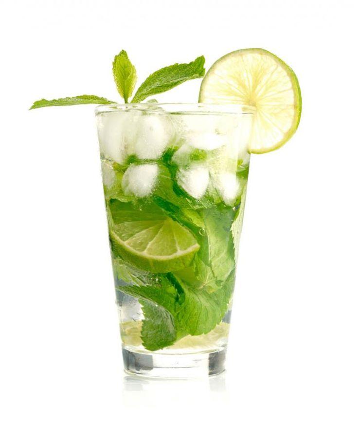 Mojito - Receita e Como Fazer Ingredientes:   2 Partes de Rum Claro, ¾ Parte de Xarope Simples, ¾ Parte de Suco de Limão, 8 Folha de hortelã Inteiras, Água com Gás.