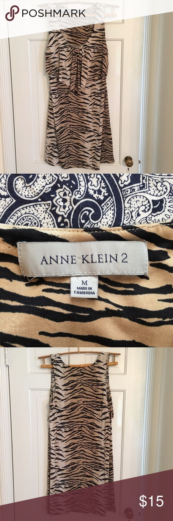 Anne Klein 2 animal print tank/sleeveless dress Anne Klein 2 animal print / tiger stripe tank dress. Super cute for night out! Anne Klein Dresses Midi