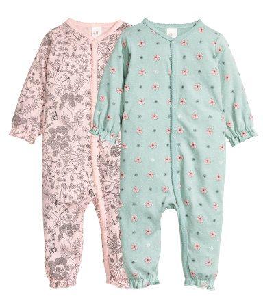 Set van 2 pyjamapakjes | Lichtroze/bloemen | Kinderen | H&M NL