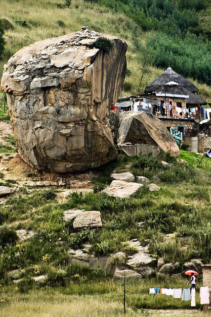 Living Between Boulders (at the border of South Africa and Lesotho) by Marie-Marthe Gagnon