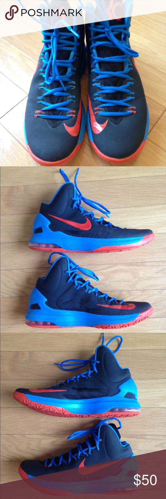 Kevin Durant Mens Nike Basketball Shoes Size 11 Awesome pair of KDs Mens size 11. Pair is in great used condition. High for great ankle protection. Kevin Durant. Nike Shoes Athletic Shoes #basketballshoes