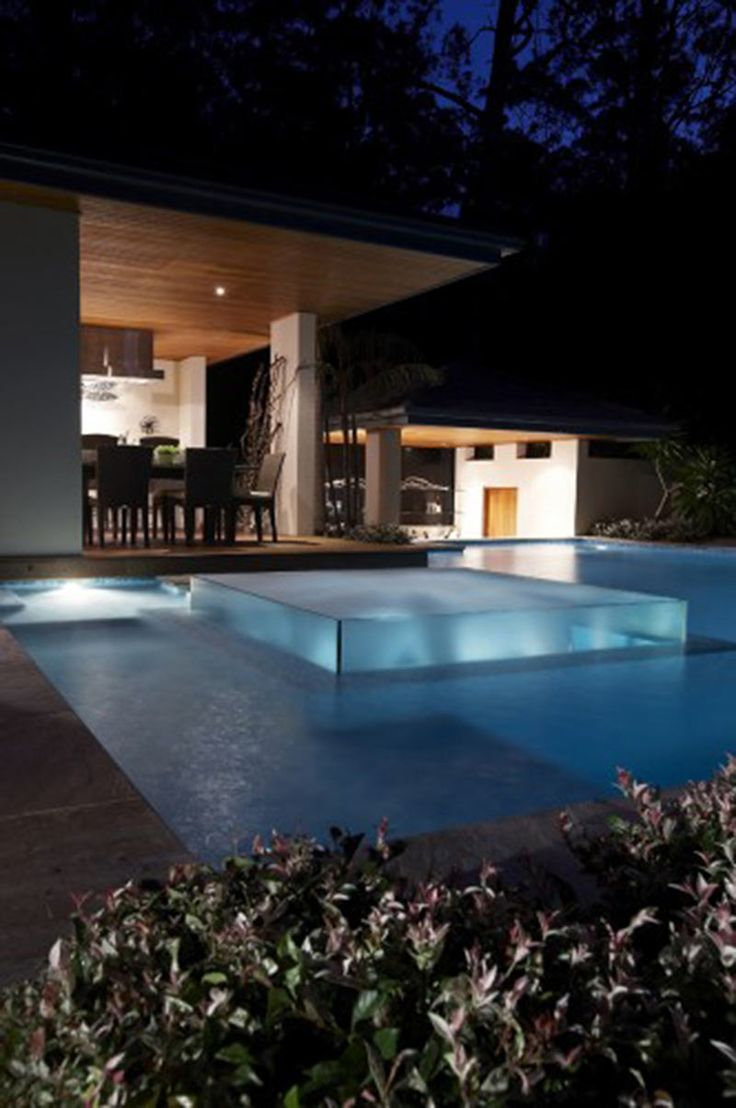 Rolling stone landscapes - Beautiful Pool Design With Transparent Glass Jacuzzi Spa Project By Australia Based Firm Rolling Stone Landscapingbeautiful