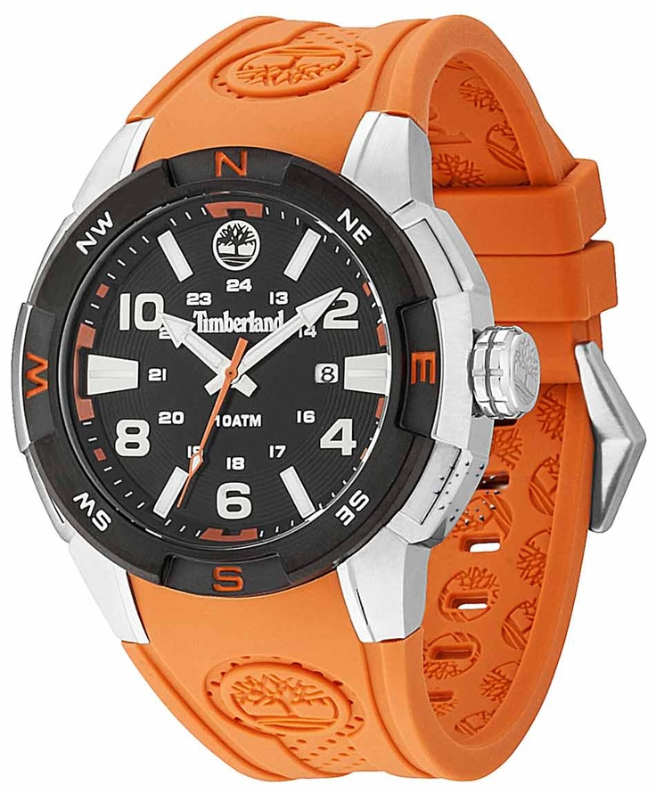 TIMBERLAND Atlamont Black And Orange Rubber Strap Μοντέλο: 13849JSTB-02 Τιμή: 109€ http://www.oroloi.gr/product_info.php?products_id=31667