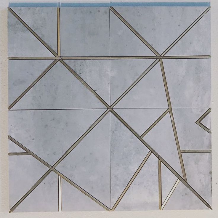 Our #concrete tile with #brass inlay #interiordesign # ...