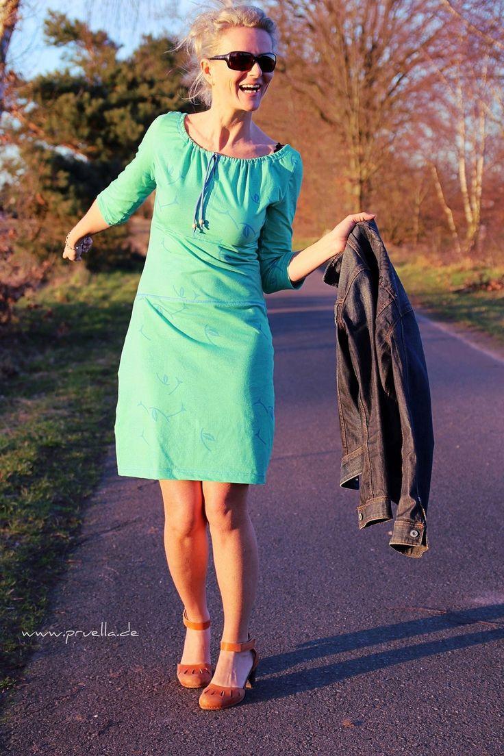 carmenkleid in gruen frauenkleidung naehen kleidung naehen kleid
