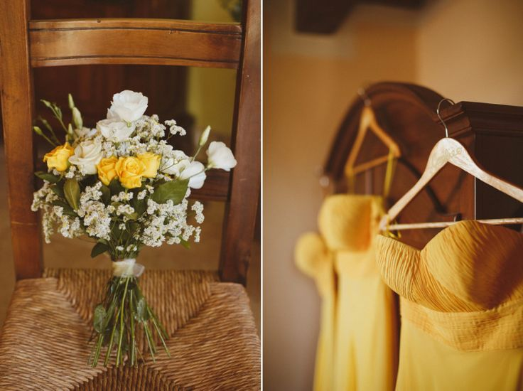 An Oxfam Charity Shop Dress and Maids in Yellow for a Homespun Wedding in Tuscany   Love My Dress® UK Wedding Blog