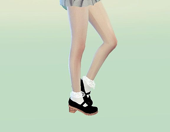 Mary jane shoes at Marigold via Sims 4 Updates