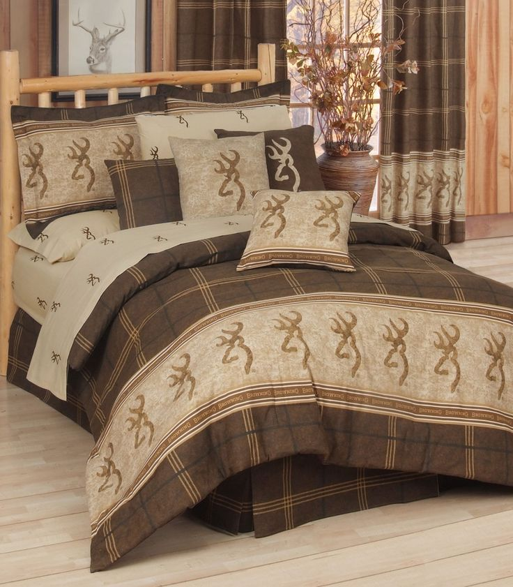Browning Buckmark 8 Pc Comforter Set Full Size Beds