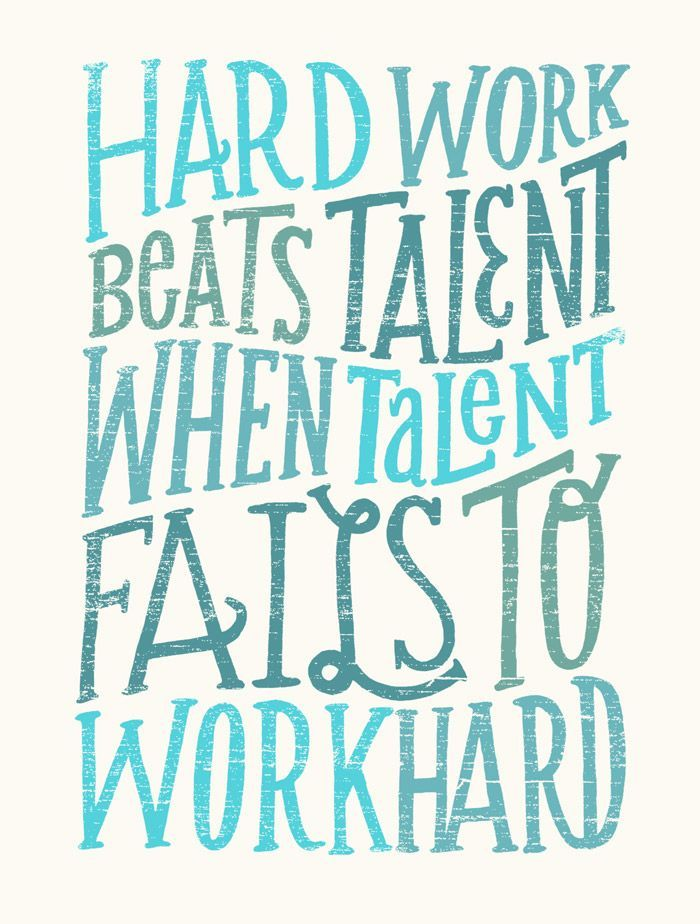 Hard work beats talent when talent fails to work hard. - Tim Notke ...