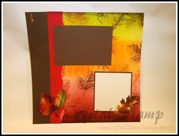 Designed this for my upcoming fall themed class.  All products used to make this card are from Stampin' Up!