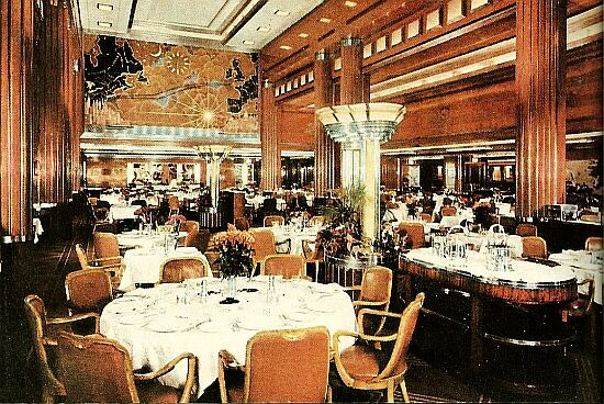 Queen Mary Cabin Class Dining Room Ocean Liner