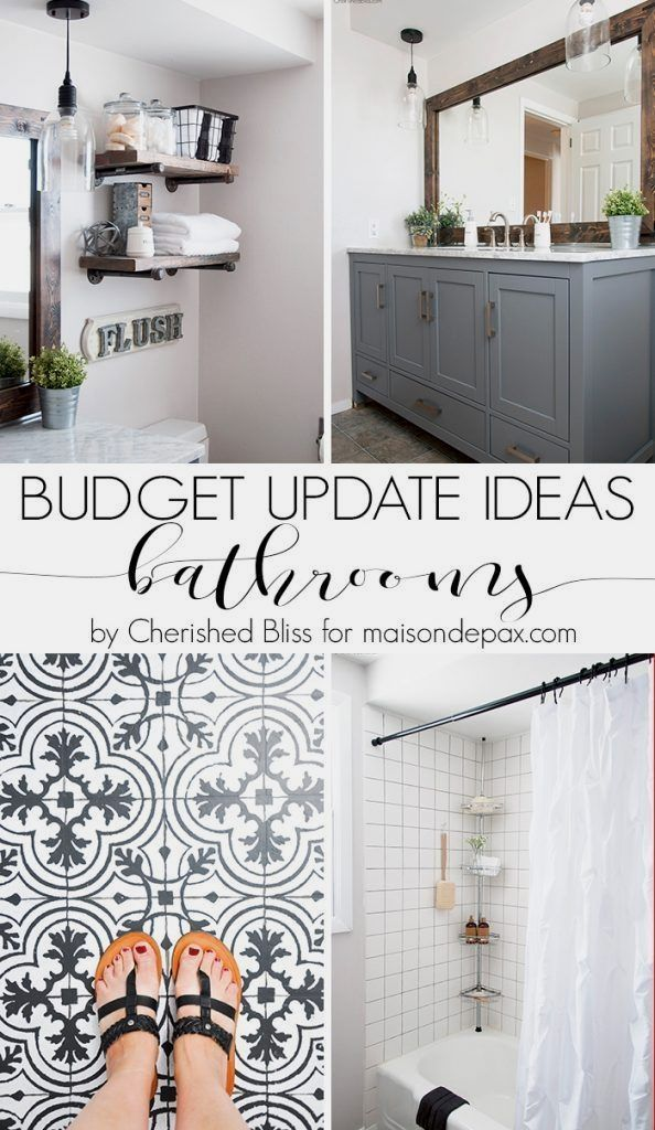 Budget Bathroom Updates Can Save Both Time And Money When Trying To Affordably Remodel Yo Cheap Bathroom Remodel Budget Bathroom Remodel Small Bathroom Remodel
