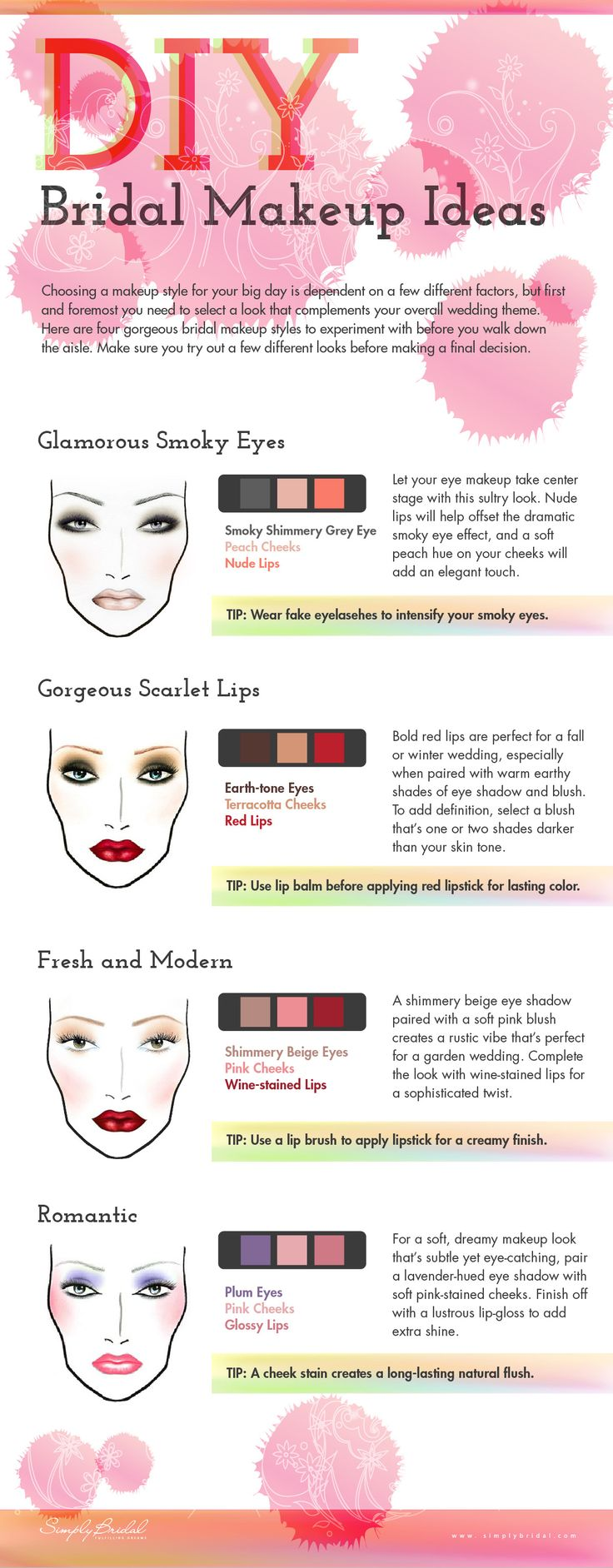 DIY Bridal Makeup Ideas #Infographics — Lightscap3s.com