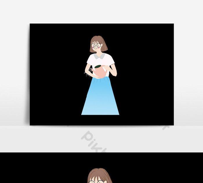 23 Gambar Kartun Orang Sedang Menyiram Bunga Kartun Biru Maxi Gadis Menyiram Bunga Ilustrasi Templat Download Https Www Cnbcin Gambar Kartun Kartun Gambar