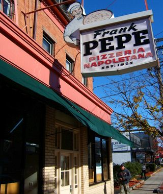 Frank Pepe's, 157 Wooster Street, New Haven, CT.. one of the oldest and best-known pizzerias in the United States!