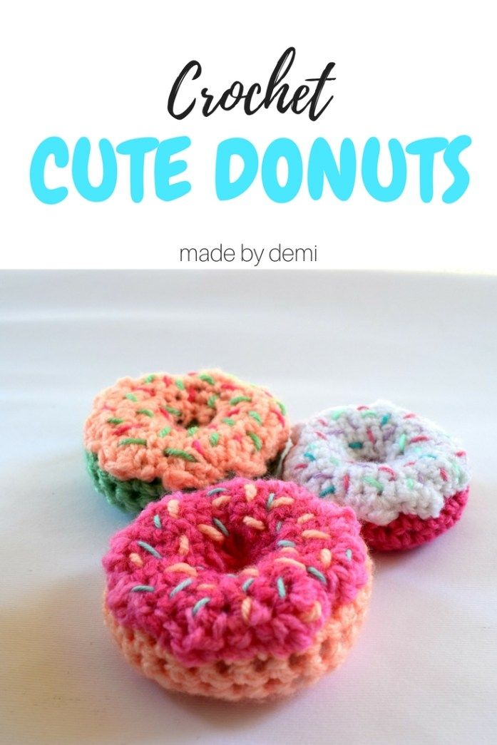 CROCHET DONUTS | a calorie-free sweet treat | made by demi