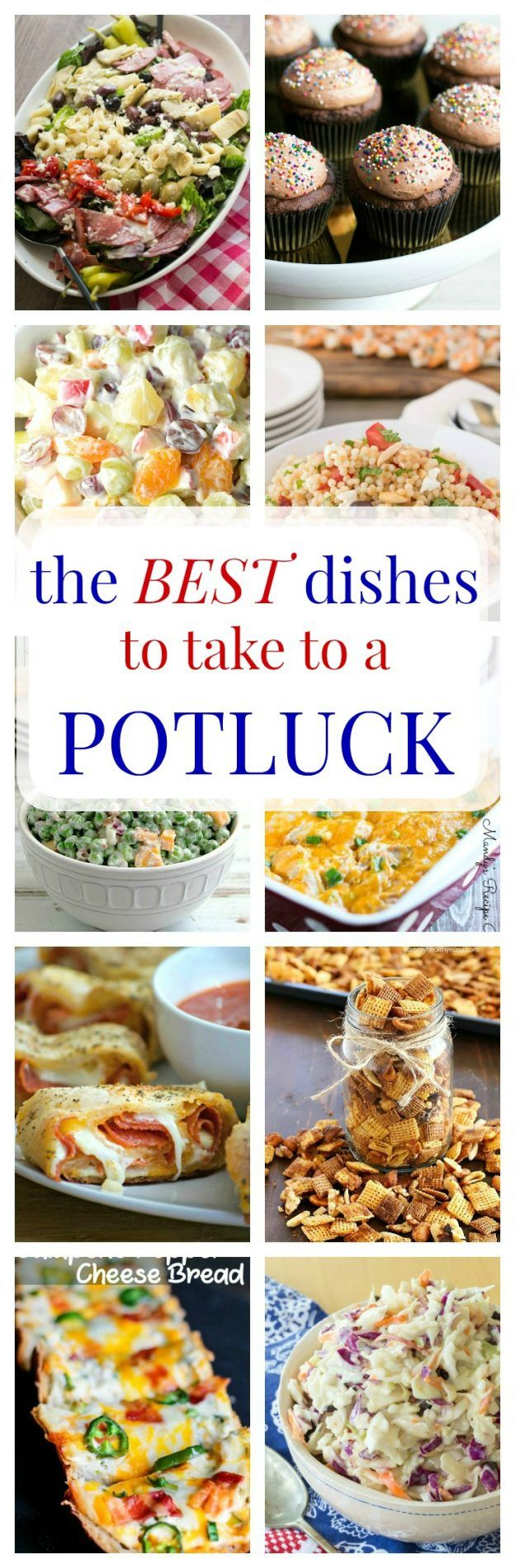 Best Dishes to take to a Potluck - easy recipes that feed a crowd for delicious appetizers, snacks sides, desserts, and more!