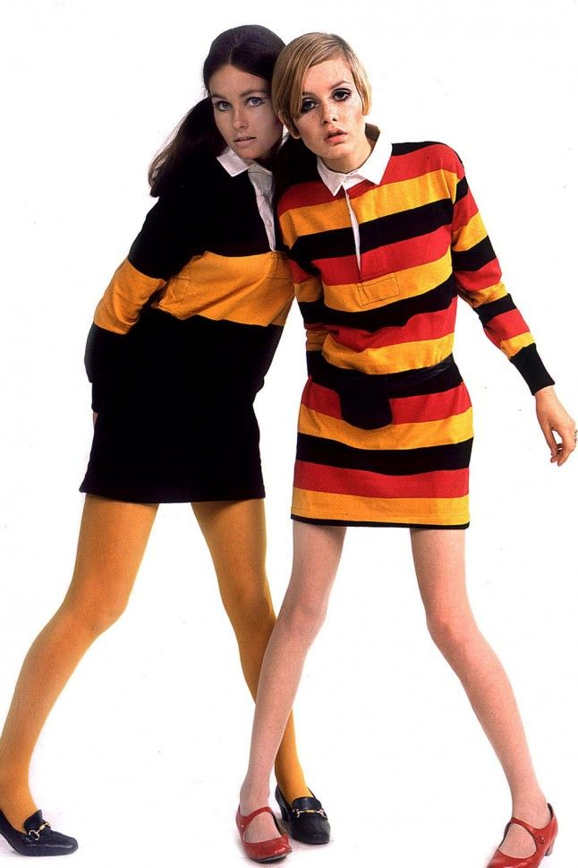 Stripes and short dresses were other common fashion trends in the 60s as women began to decide their own social standards.
