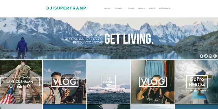 http://djisupertramp.com/ Un blog influent pour les voyages. Bien noté, bien référencé et ergonomique en plus !