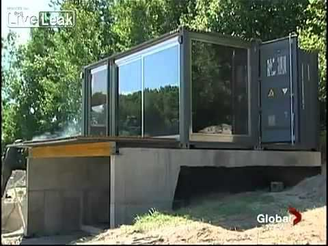 Prefabricated shipping container homes amazing report 8 hour build time after foundation set - Amazing shipping container homes ...