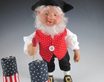 OOAK Fairy Elf muñeca, muñeca del arte, polímero muñeca de barro,