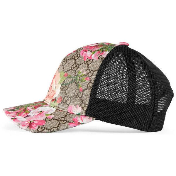 Gucci Gg Blooms Baseball Hat ($230) liked on Polyvore featuring accessories hats women canvas ...