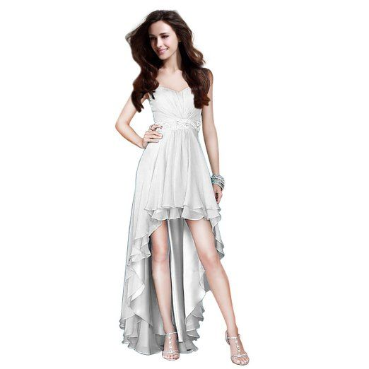 Fashion Plaza Womens Sequin High Low Dress Chickory flirty strapless Cocktail dress prom gown by Fashion Plaza Material: high quality Chiffon, Lining, no stretch, hand wash only
