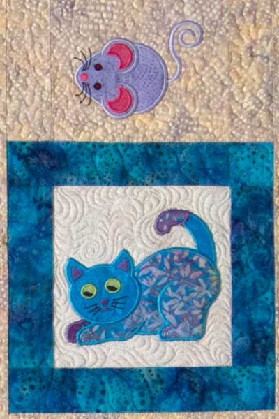 Lunch Box Quilts | Cat's Meow Embroidery Pattern with USB
