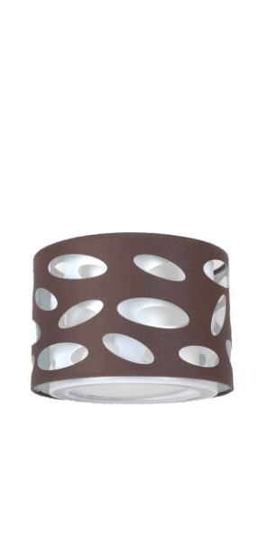Carlo | Round drum shade, available in red, chocolate, black or white.