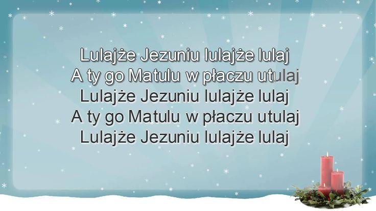 Polskie Kolędy - Lulajże Jezuniu + tekst - karaoke