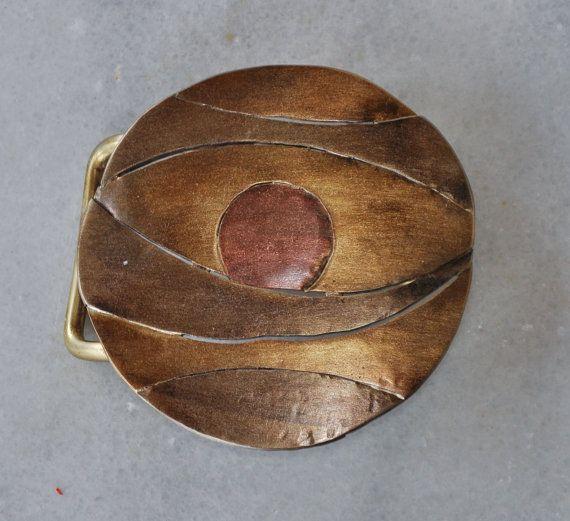 Handmade belt buckle in brass copper and alpaca by TakisBrass