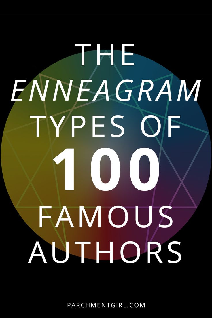 The Enneagram Types Of 100 Famous Authors