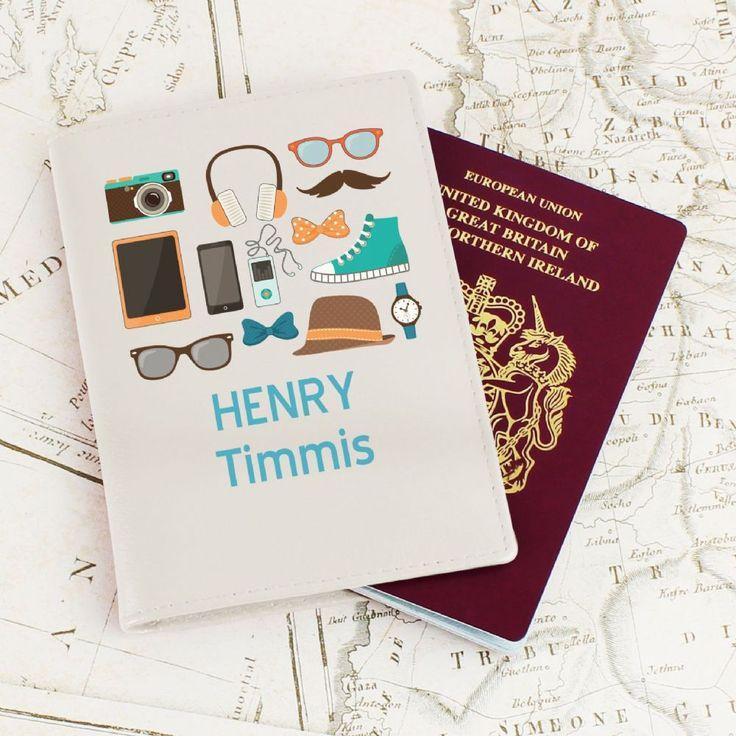A stylish passport holder and also a great way to remember all your holiday essentials You can personalise this passport holder with 2 lines of text