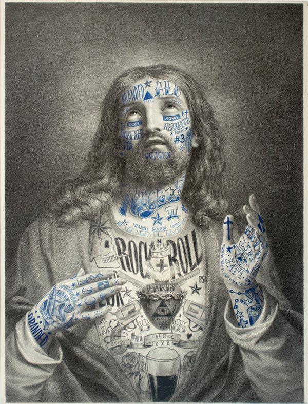Tatouages et illustrations sur d'anciennes gravures