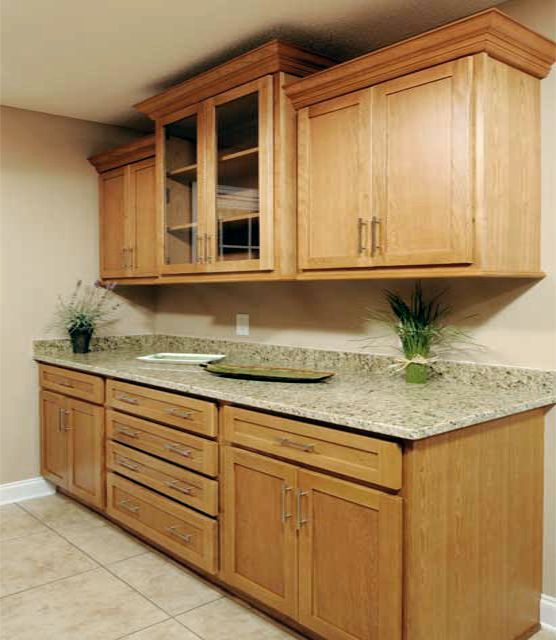 54 best Oak Kitchen Cabinets images on Pinterest | Storage closets ...