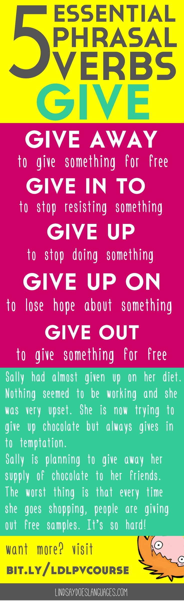 5 Essential Phrasal Verbs: Give. Struggling to understand and use phrasal verbs…