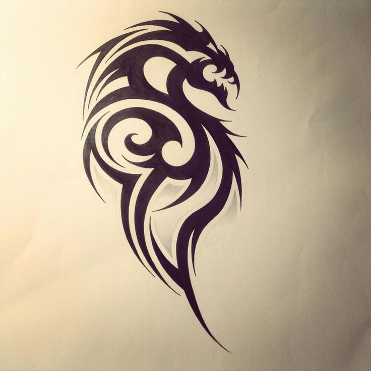 Dragon Tribal Tattoo Design By FingerPrint1404deviantart