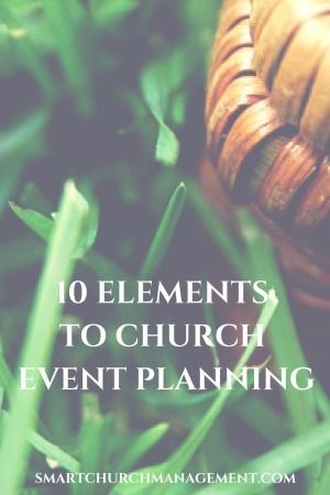 Whether it is the annual children's vacation bible school, church picnic or a church anniversary celebration, having a template for event planning is crucial to facilitating great church events!