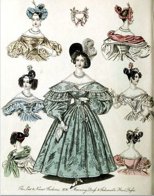 The World of Fashion and Continental Feuilletons 1836 Plate 7