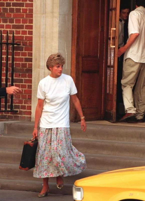 August 1991 at St Mary's hospital visiting her friend Adrian Ward Jackson