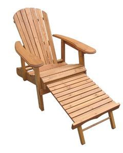 Merry Products Foldable and Reclining, Fir Wood Adirondack Chair with Pull Out Ottoman Merry Produc