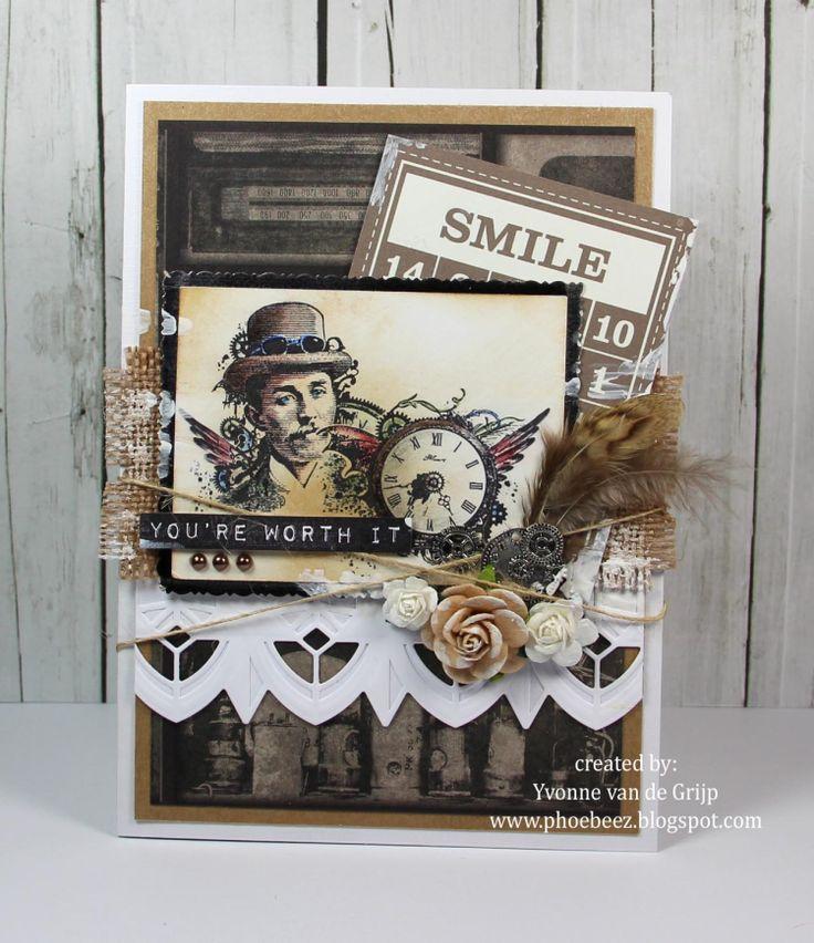 Steampunk Card - Yvonne vd Valk - vd Grijp: Stempelglede :: Design Team Blog
