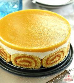 Barackzselés túrós charlotte torta