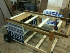 Campaign Sign Chicken Coop Idea.  Very clever concept.  Under Construction photo by Scott James