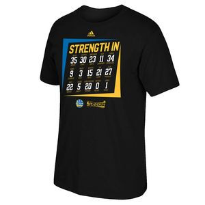 Golden State Warriors adidas 2017 NBA Playoffs Strength In Numbers Roster Tee - Black