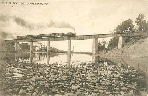 CPR Bridge, Goderich, Ont. #Goderich #RediscoverGoderich #VintageGoderich