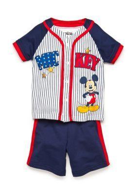 Disney  Mickey Mouse Americana Jersey Short Set Toddler Boys